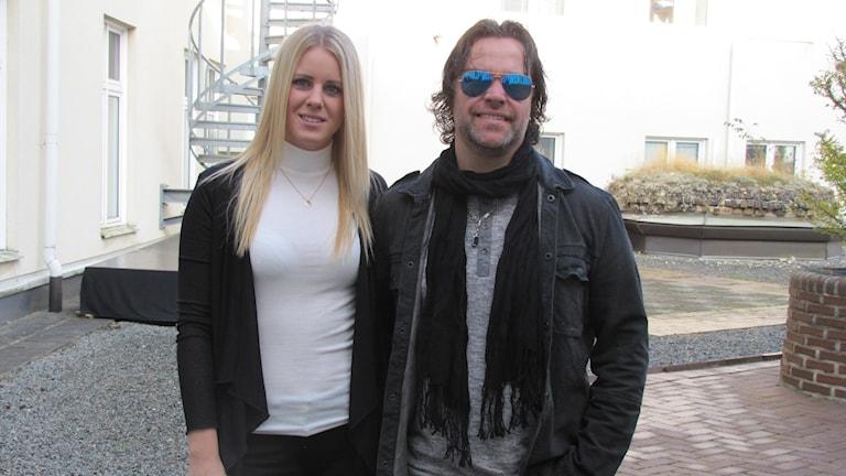 Lina Villysson och Maxe Axelsson. Foto: Ingrid Elfstråhle/Sveriges Radio