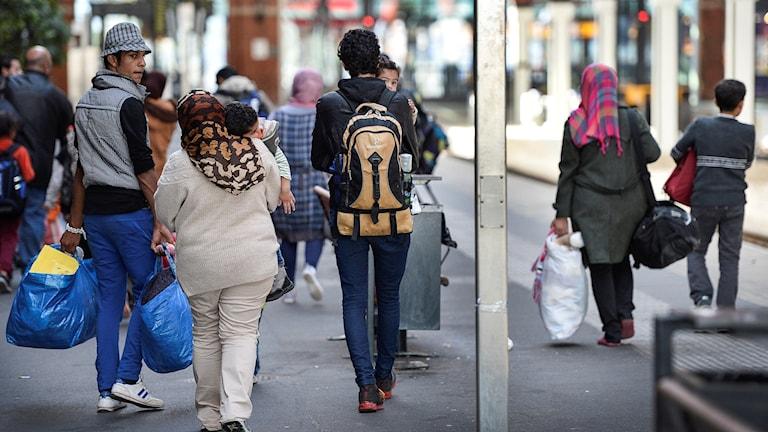 Flyktingar. Foto: Anders Wiklund/TT