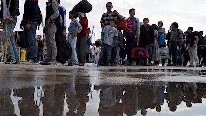 Tusentals människor är på flykt. Foto: Petros Giannakouris/TT.