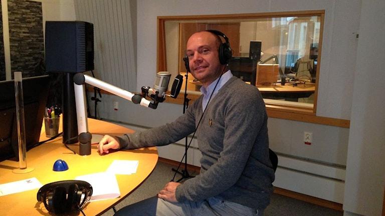 Stefan Wingefors är stumfilmspianist Foto: Linn Elmstedt/Sveriges Radio