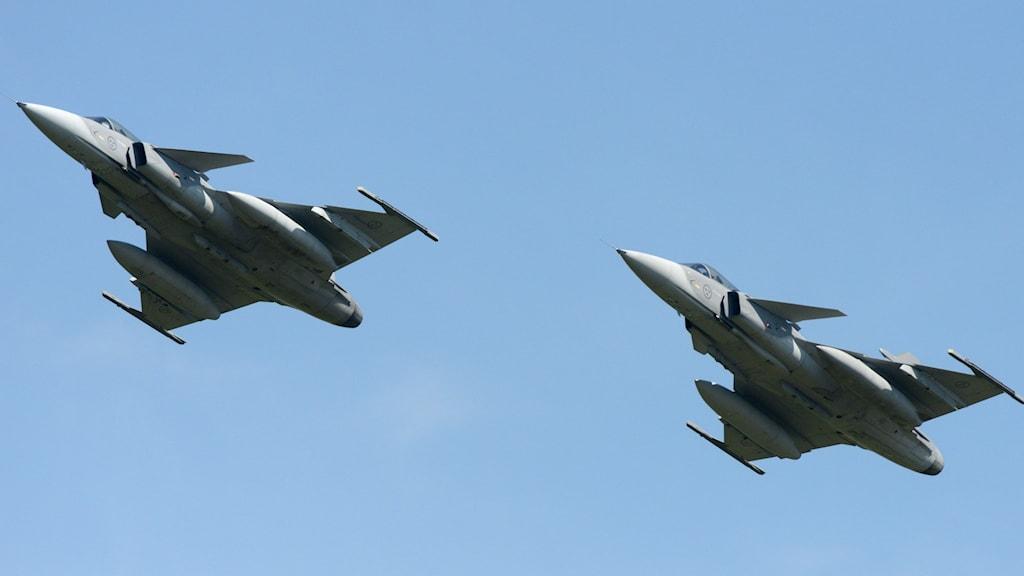 Jas 39 Gripen. Foto: Johan Nilsson/TT.