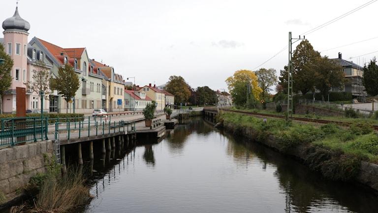 Ronneby ån i mitten av staden