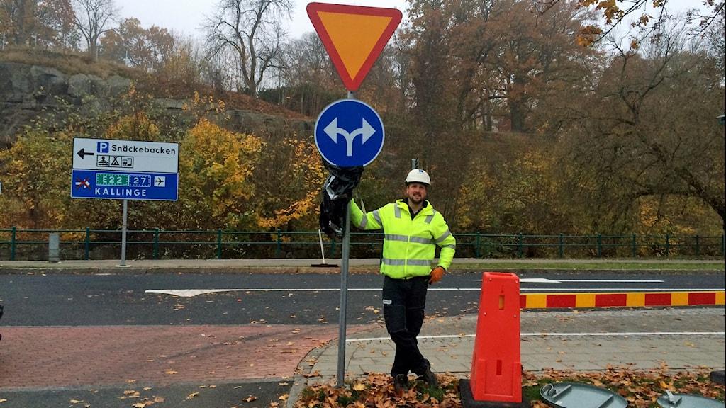Magnus Graad Förvaltningschef, Tekniska förvaltningens chef Magnus Graad är nöjd med dubbelriktningen. Foto: lena König/Sveriges Radio.