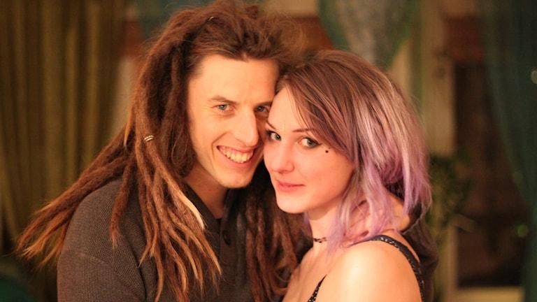 Jesper Lissmark Hult och hans flickvän Jenny. Foto: privat.
