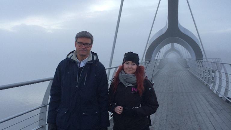 Programledare Matilda Ljungkvist på Sölvesborgsbron