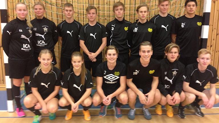 Eleverna på Elitfotbollsgymnasiet i Sölvesborg. Foto: Johan Svensson/ Sveriges Radio.