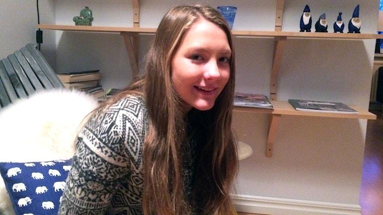 En porträttbild av simmaren Ella Simander. Foto: Lena König/Sveriges Radio.