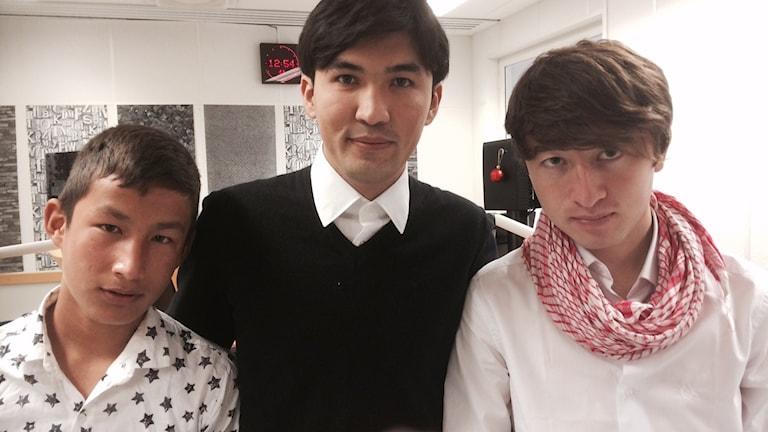 Jawil, Ali och Shahroz är alla ensamkommande barn från Afghanistan. Foto: Henrik Olsson, Sveriges radio