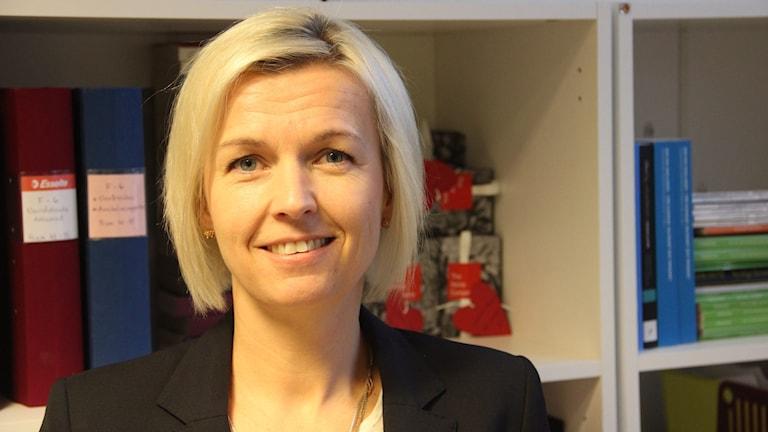 Galärens rektor Jennie Martinsson. Foto: Mikael Eriksson/Sveriges Radio