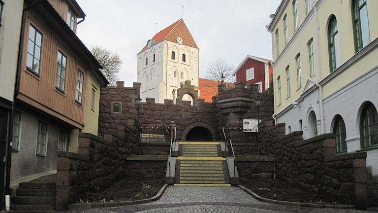 Munktrappan och Heligakors kyrka i Ronneby