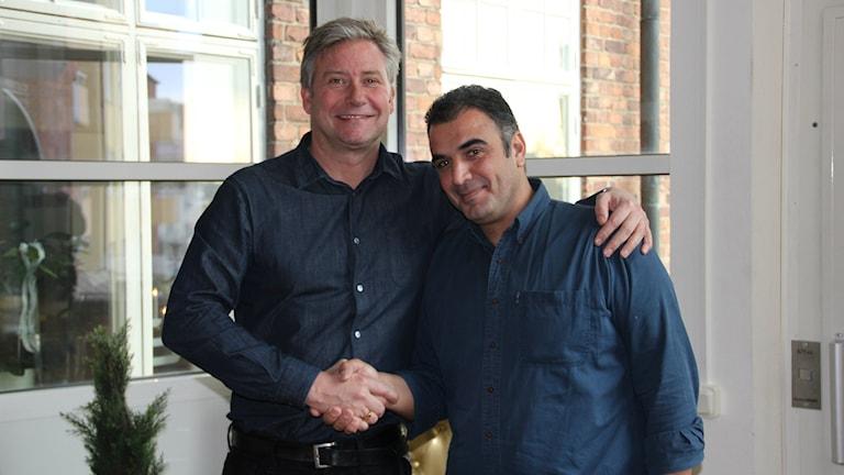 Richard Karlsson och Suhail Chamiyeh. Foto: Helena Gustafsson/Sveriges Radio