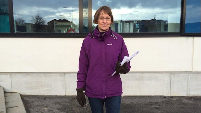 Cecilia Näslund som är länets klimat- och energisamordnare. Foto: Lena König/Sveriges Radio.
