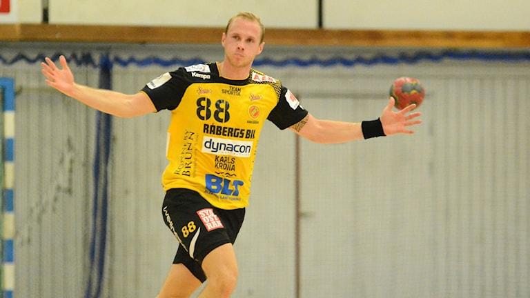 Jacob Nygren bäste målskytt i matchen mot IK Sävehof. Foto: Oscar Anderberg