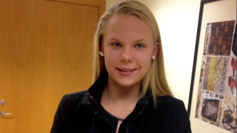 Maja Fridberg, fotbollsspelare i IFK Kalmar. Foto: Johan Svensson/ Sveriges Radio