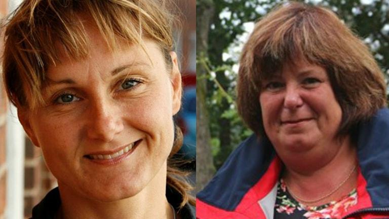 Ett kollage med bilder på Annicka Engblom (M) och Suzanne Svensson (S). Foto: Sveriges Radio.