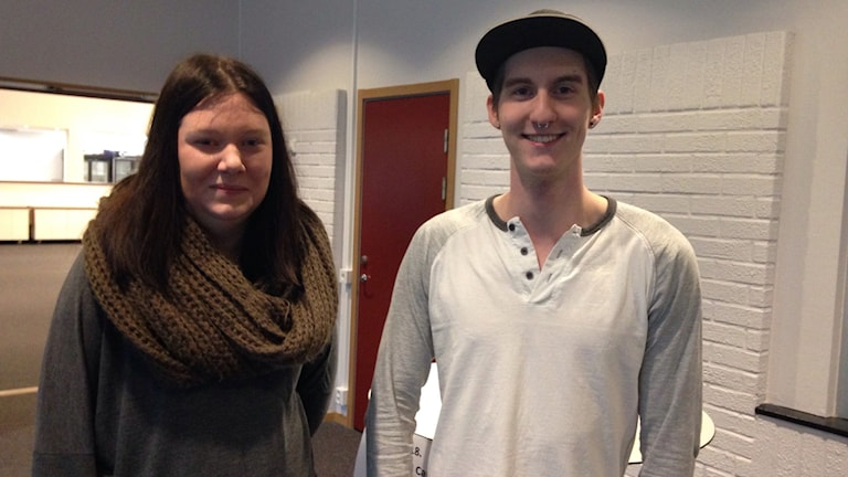 Tilda Erikssen från Ronneby och Gustav Alm Strömberg från Bräkne-Hoby.Foto: Linn Elmstedt/Sveriges Radio