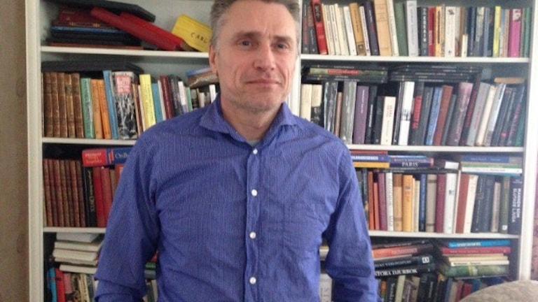 John Blivik tycker att de ensamkommande barnen får mer mening i sina liv.