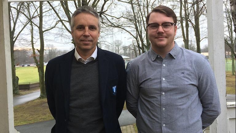 Per Ågren, MFF och Rasmus Oredsson, SGIF.