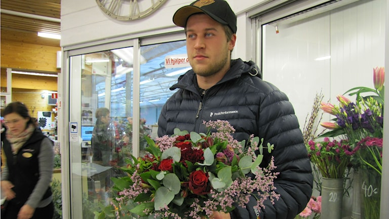 Blomsteraffär på Alla hjärtans dag