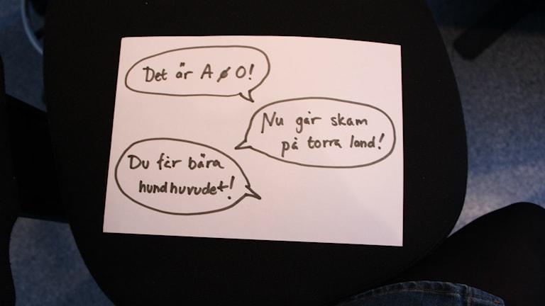 I veckans Varfördådå står språket i centrum. Foto: Matilda Ljungkvist/SR