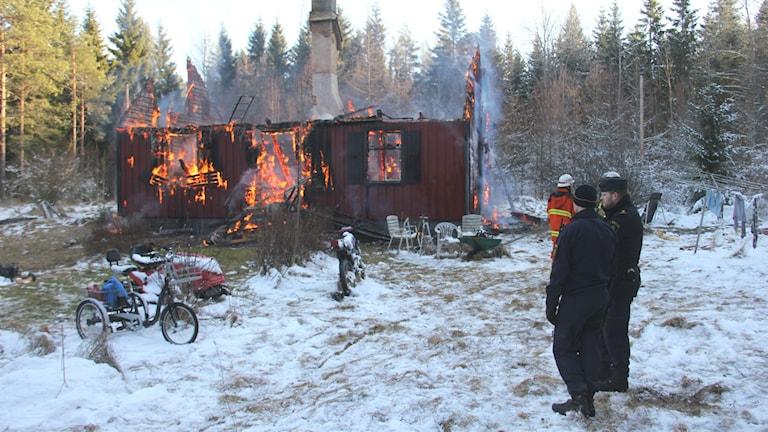 Brand norr om Eringsboda