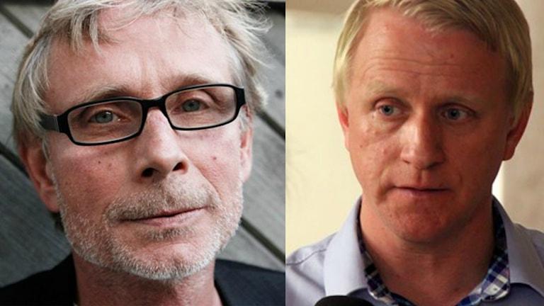 Ett kollage med en bild på Björn Fries och en på Jesper Björnsson.