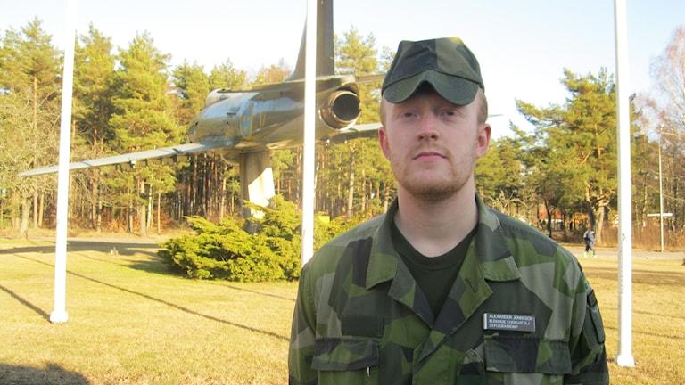 Alexander Jonsson flygbassäkerhetskompaniet F17.