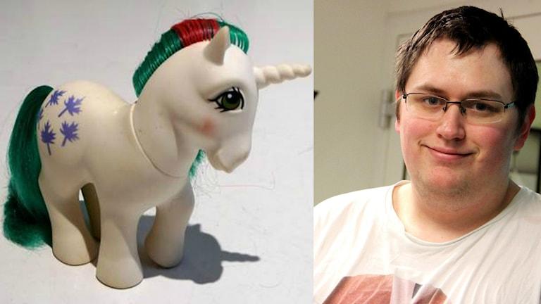 Ett kollage med en bild på en my little pony och dennis magnusson