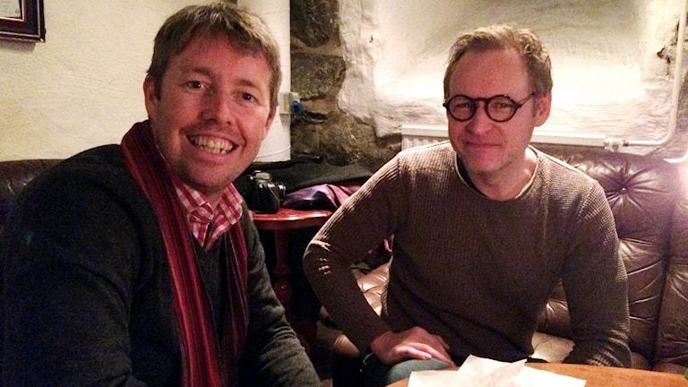 I fredags var Tom Williams från Manchester i England i Karlskrona för att ta en kopp med sin Facebookvän Niclas Höglind från Bräkne Hoby.