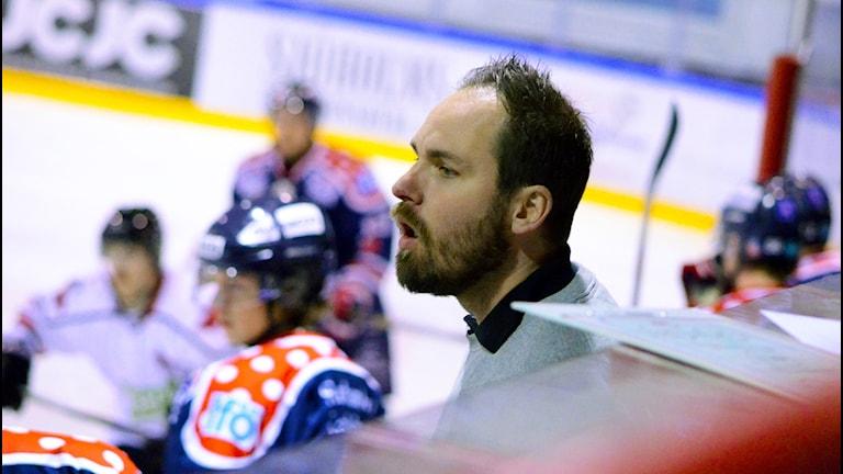 Mörrums  tränare Andreas Ernebrand. Foto: Torbjörn Sunesson (SR)
