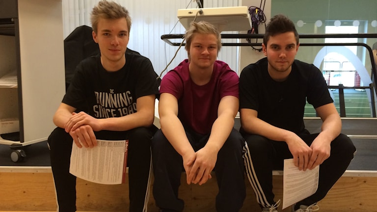 André Nilsson, Simon Svensson och Anton Thomasson