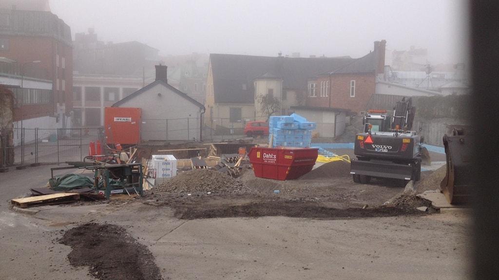Pebas bygge på Möllebacksgränd