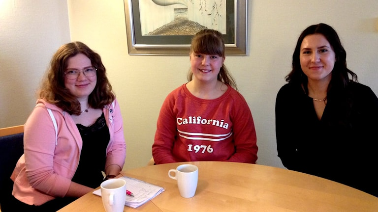 Julia Stensson, Elin Nilsson, Maja Konforta är elever vid Högavångsskolan i Olofström.