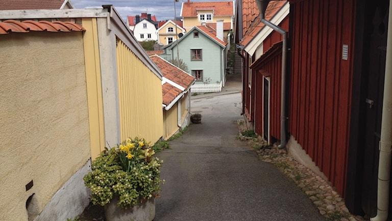 En gränd på Björkholmen