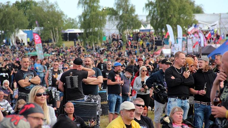 Massor med publik på  sweden rock.