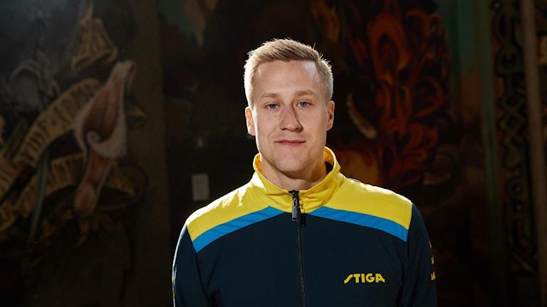 Pingisspelaren Mattias Falck. Foto: Andreas Hillergren/TT