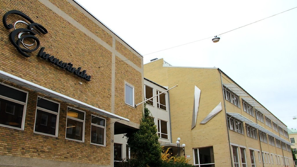 Ehrensvärdska gymnasiets byggnader i centrala Karlskrona. Foto: Frank Luthardt/Sveriges Radio.