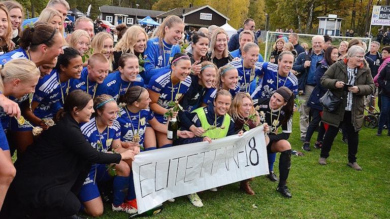 Asarums IF: s damlag är nu i Elitettan. Foto: Torbjörn Sunesson/Sveriges Radio