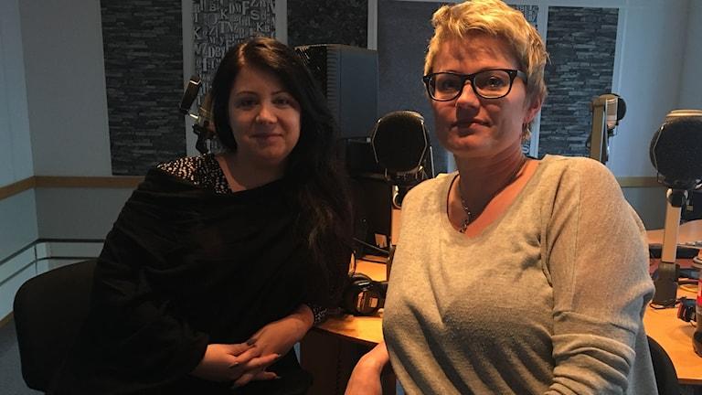 Sophia Ahlin och Selma Björk Matthiasdottir