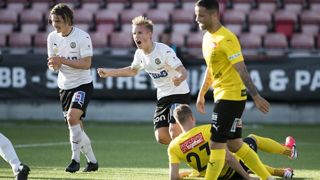 Spelare i matchen Mjällby - Örebro i somras