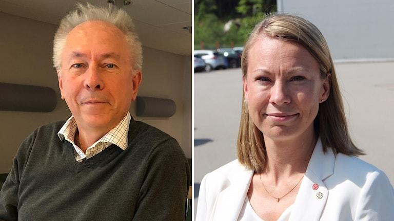 Jan Björkman och Sara Rudolfsson.
