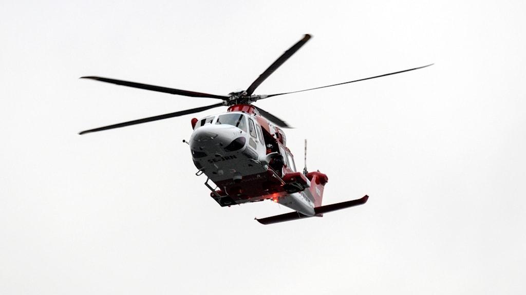 Sjöfartsverkets räddningshelikopter. Foto: Johan Nilsson/TT