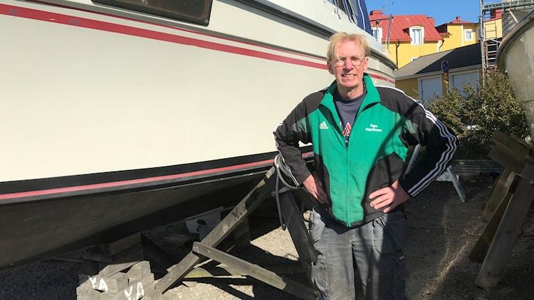 Yngve Augustinsson ordförande Pantarholmens båtklubb.