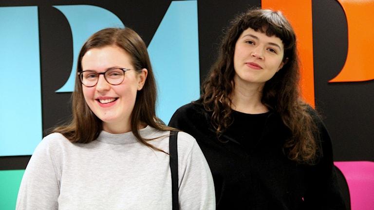 Alva Zalar och Linnea Sundström på BTH.