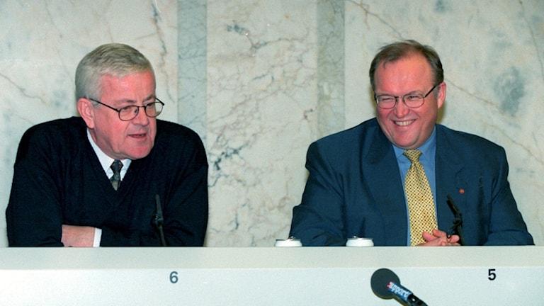 Lars Engqvist och Göran Persson.