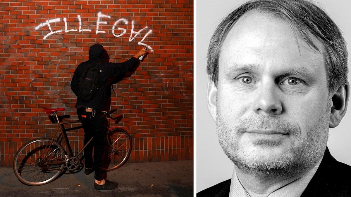 Ökning av anmälda klotterbrott behöver inte betyda mer klotter menar Magnus Lindgren från Tryggare Sverige.