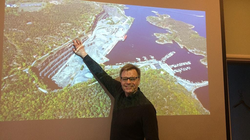 Bild över Stärnö och kommunalrad Per Ola Mattsson