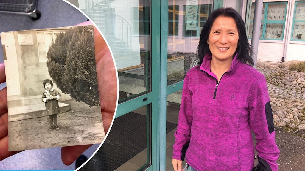 Anna De Limoné hittade en bild som är tagen när hon var två år och bodde i Sydkorea. I dag är hon 56 år och jobbar hon på en skola i Ronneby.