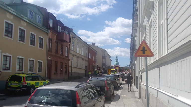 Pizzeria brinner i Karlshamn