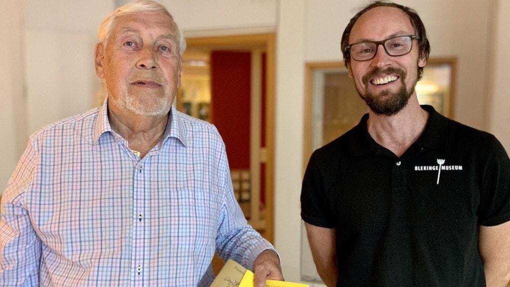 Rolf Andersson, Föreningen Gamla Carlscrona och Christoffer Sandahl, Blekinge museum